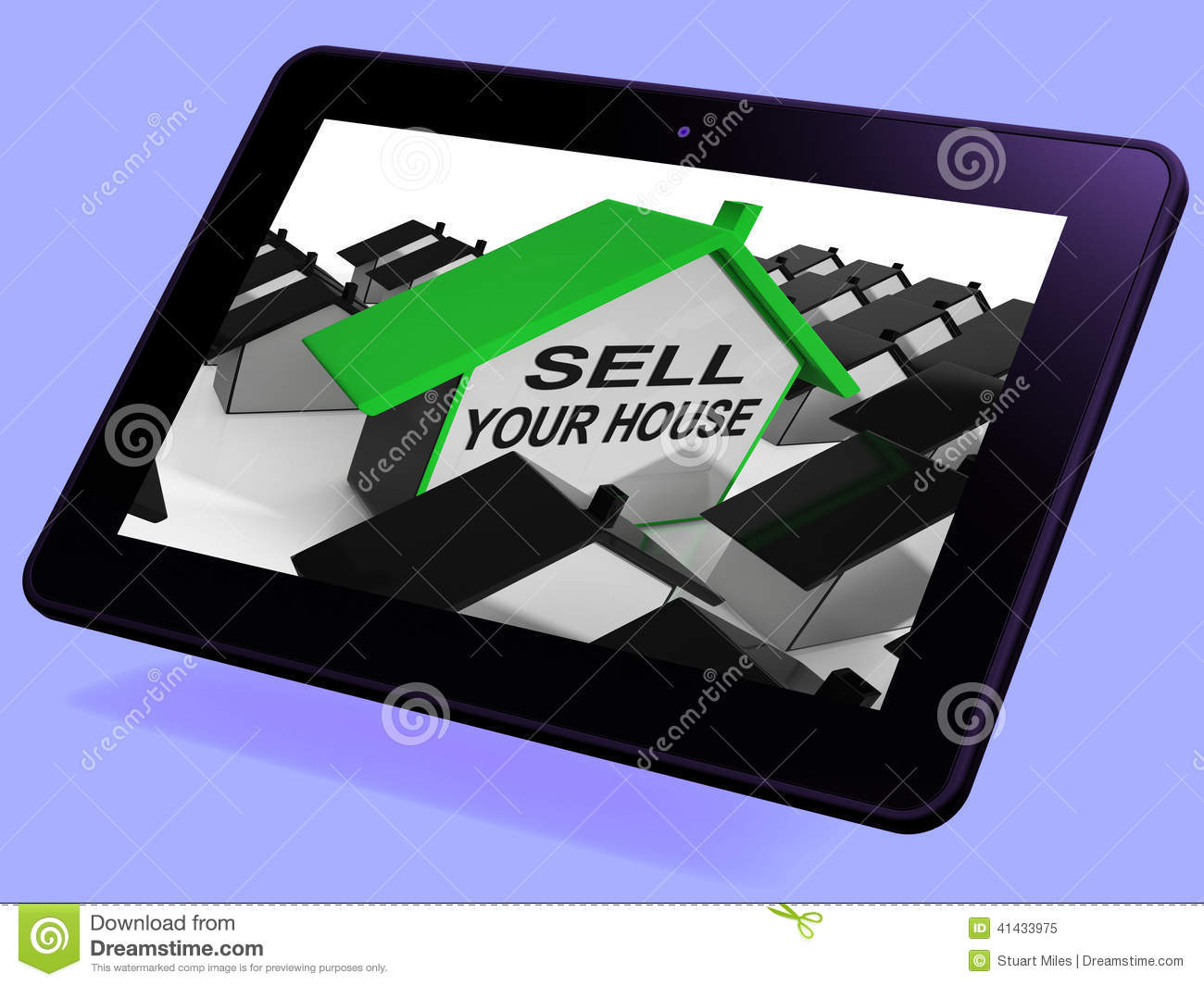 Sell Your House Home Tablet Means Marketing Property
