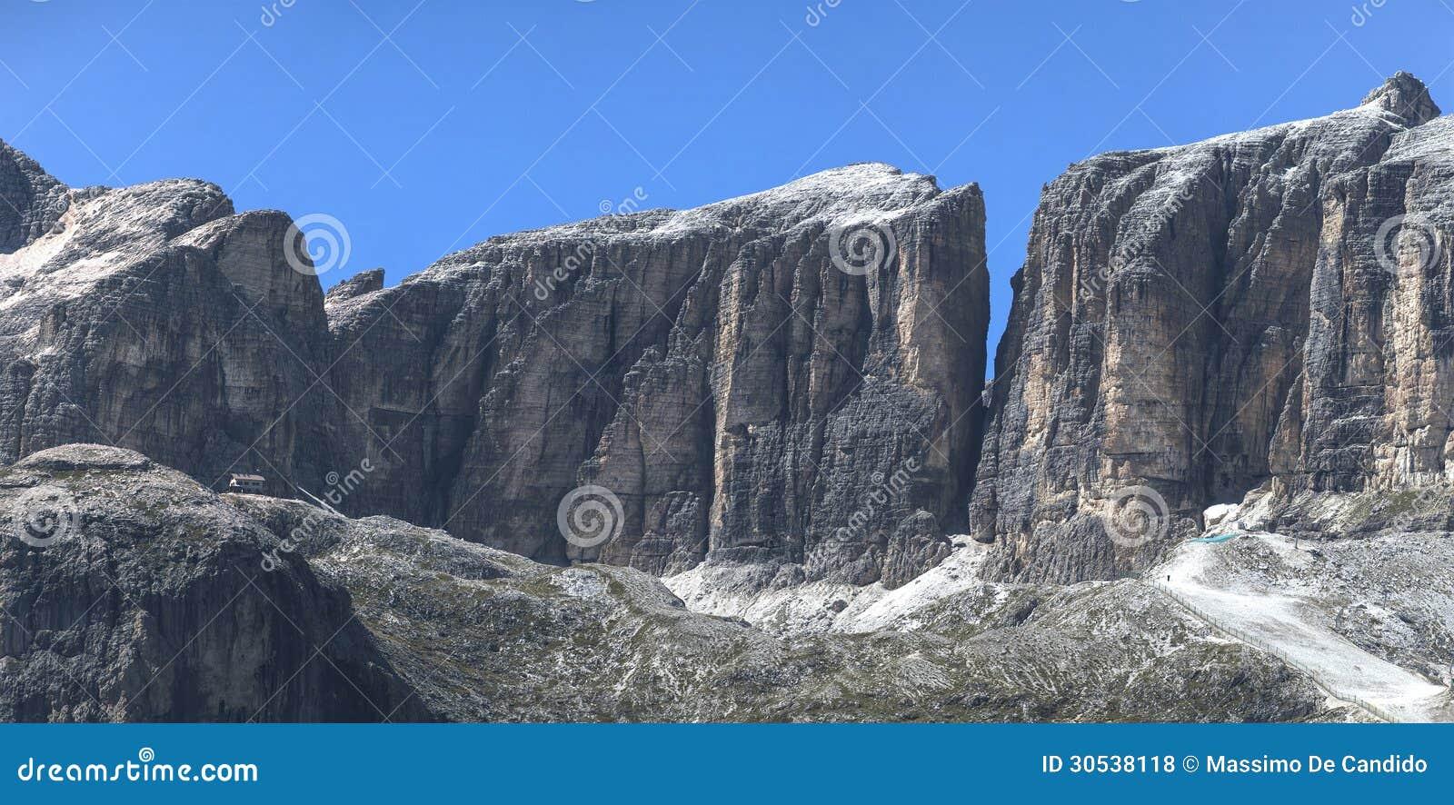 Sella Group, Vallon - Dolomites Mountain Royalty Free Stock Photos ...