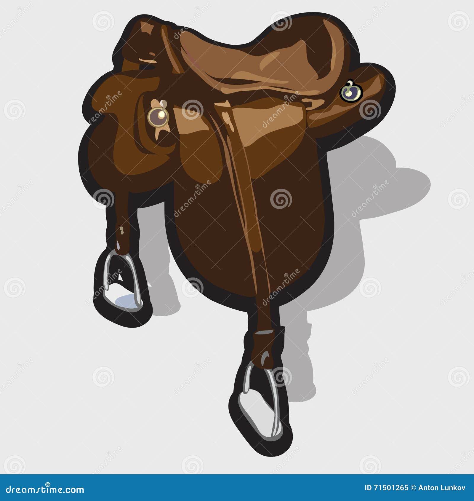720fd7d2eec8 Selle en cuir de cheval de Brown Dirigez l élément de l équipement du  cavalier