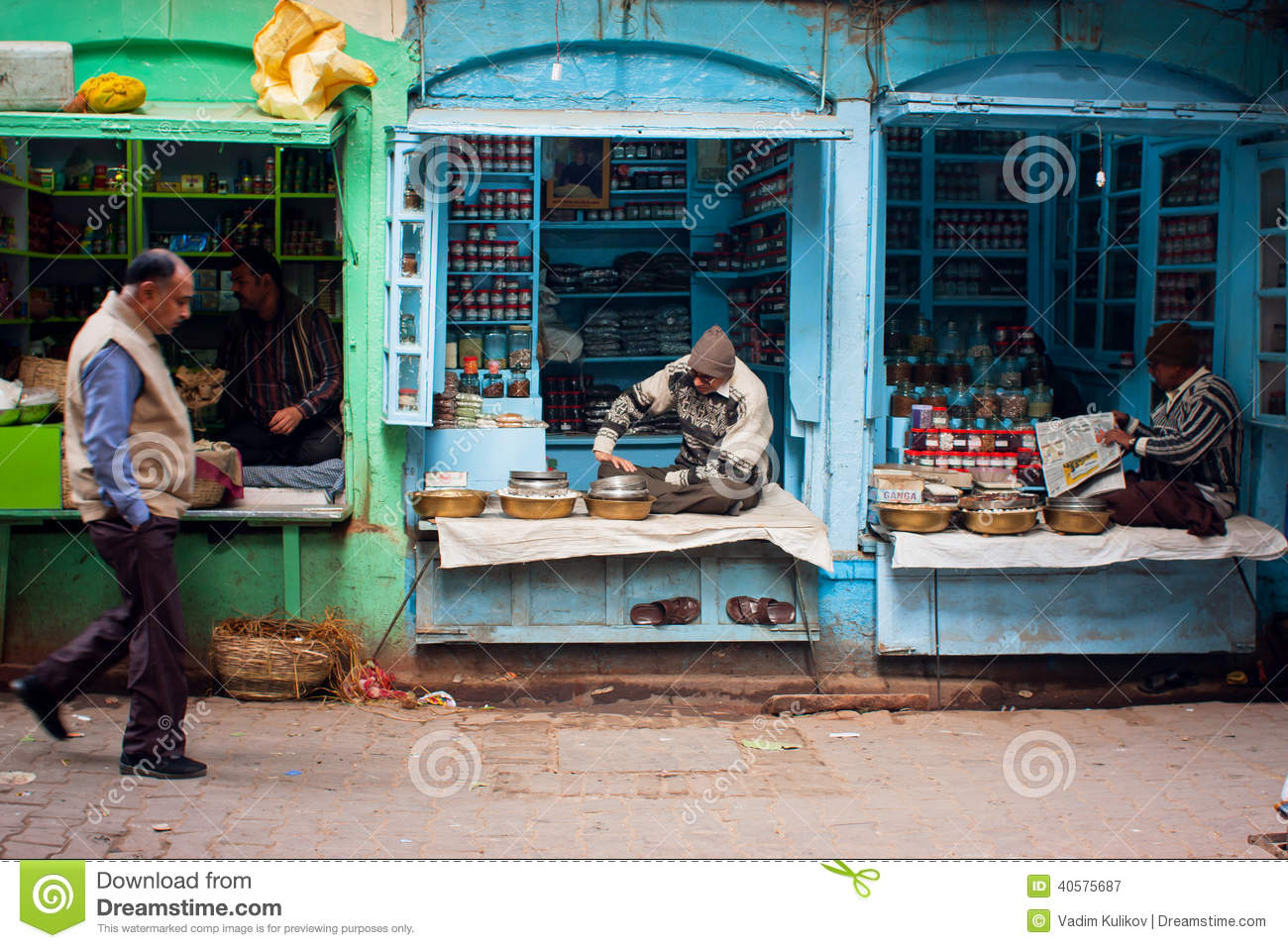 Sellers of small shops passers by people editorial for City indian dining ltd t a spice trader
