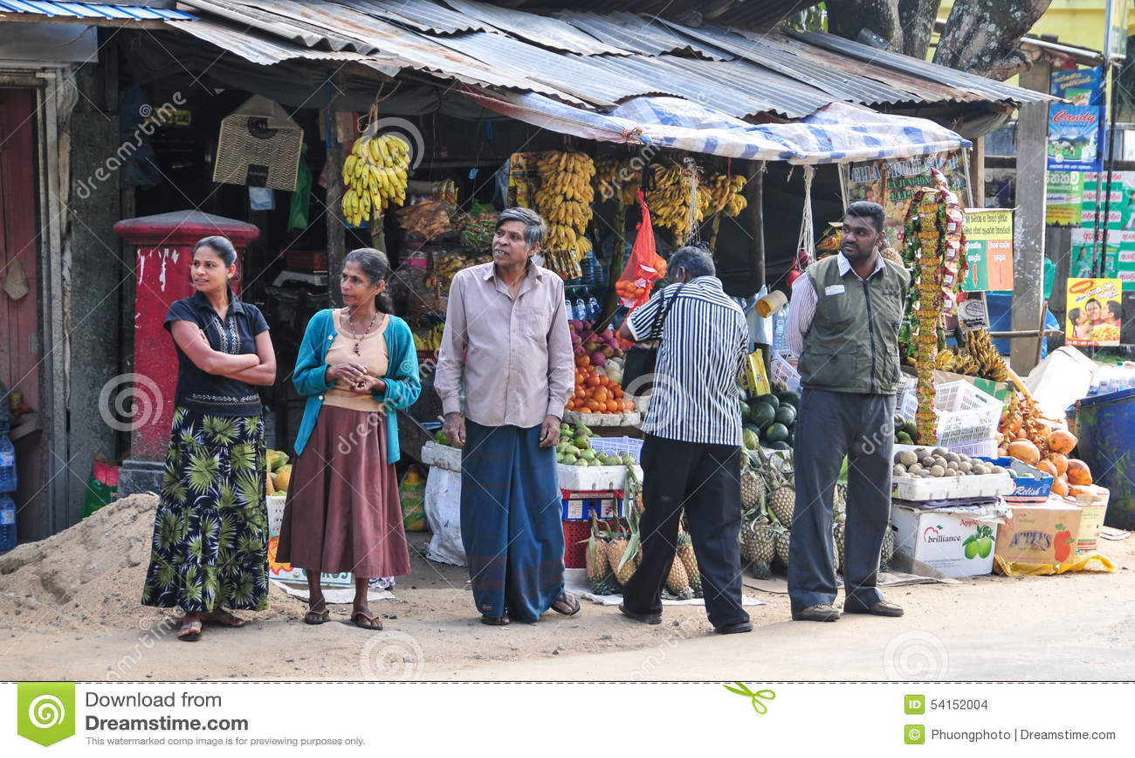 Sellers In Street Shop Sell Fresh Fruits In Sri Lanka