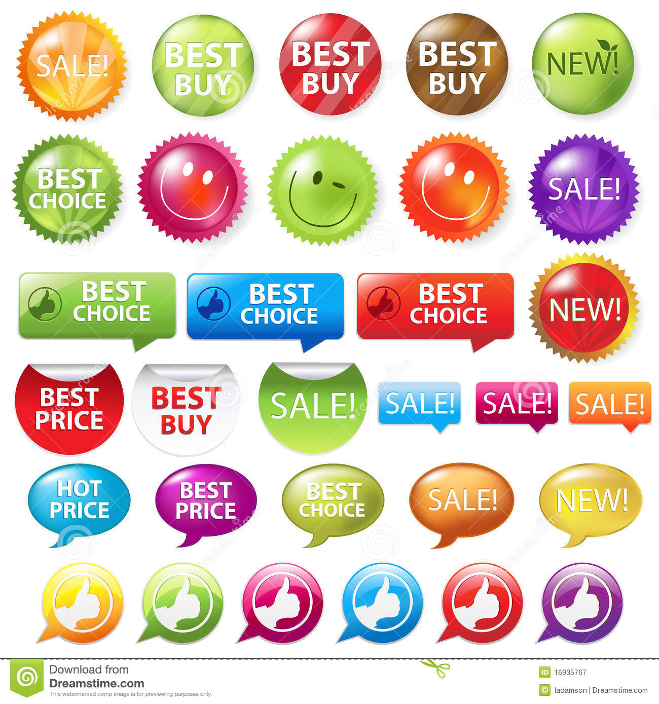 Royalty free stock photography selling badges vector