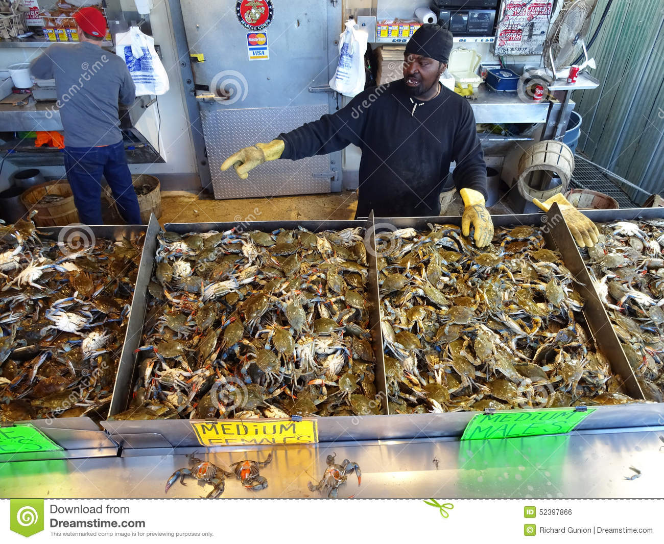 Selling blue crabs editorial photo image of seafood for Washington dc fishing license
