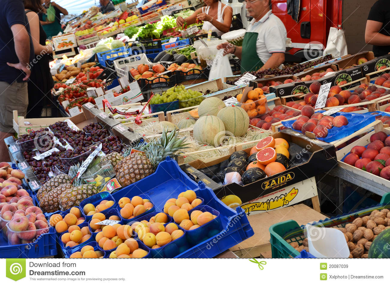 Selling Fruits On Marked Editorial Stock Image