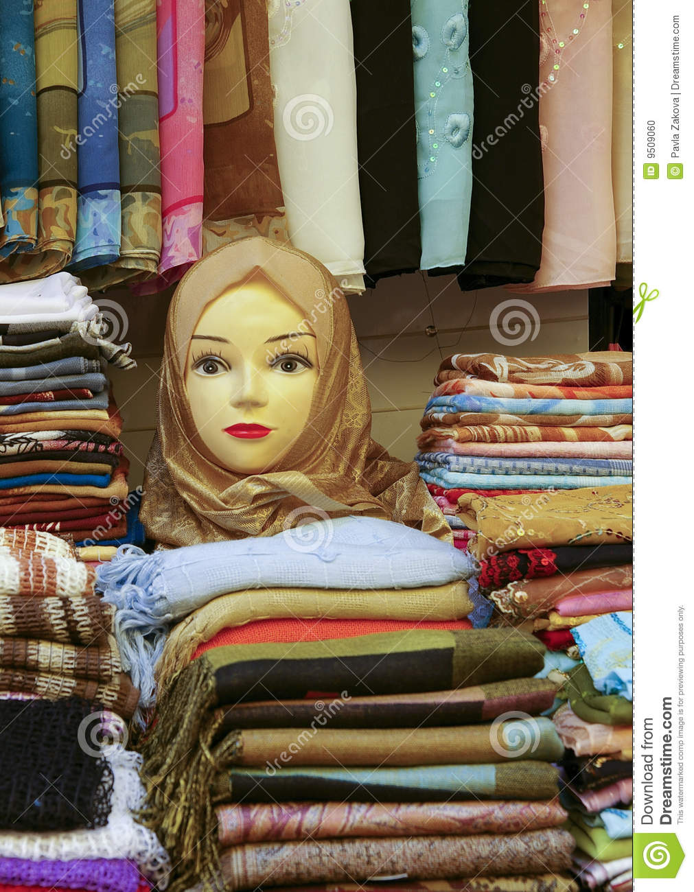 selling scarves stock photo image 9509060