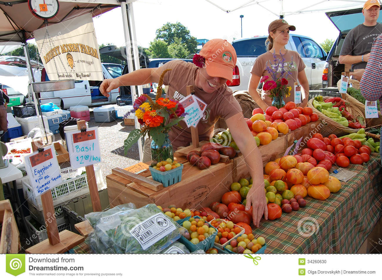 Selling Vegetables On Farmers Market Editorial Image ...