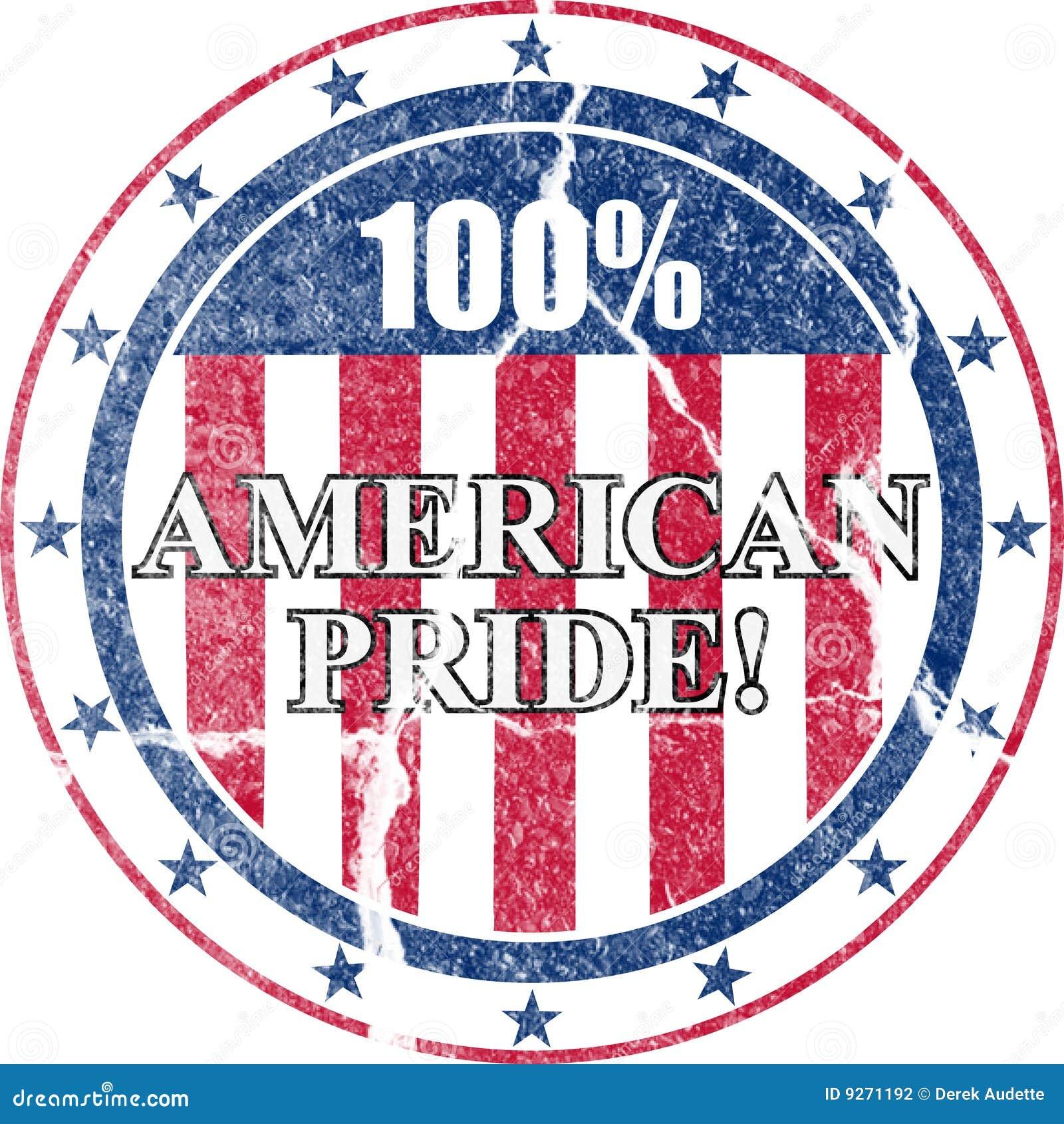 Sello apenado orgullo americano
