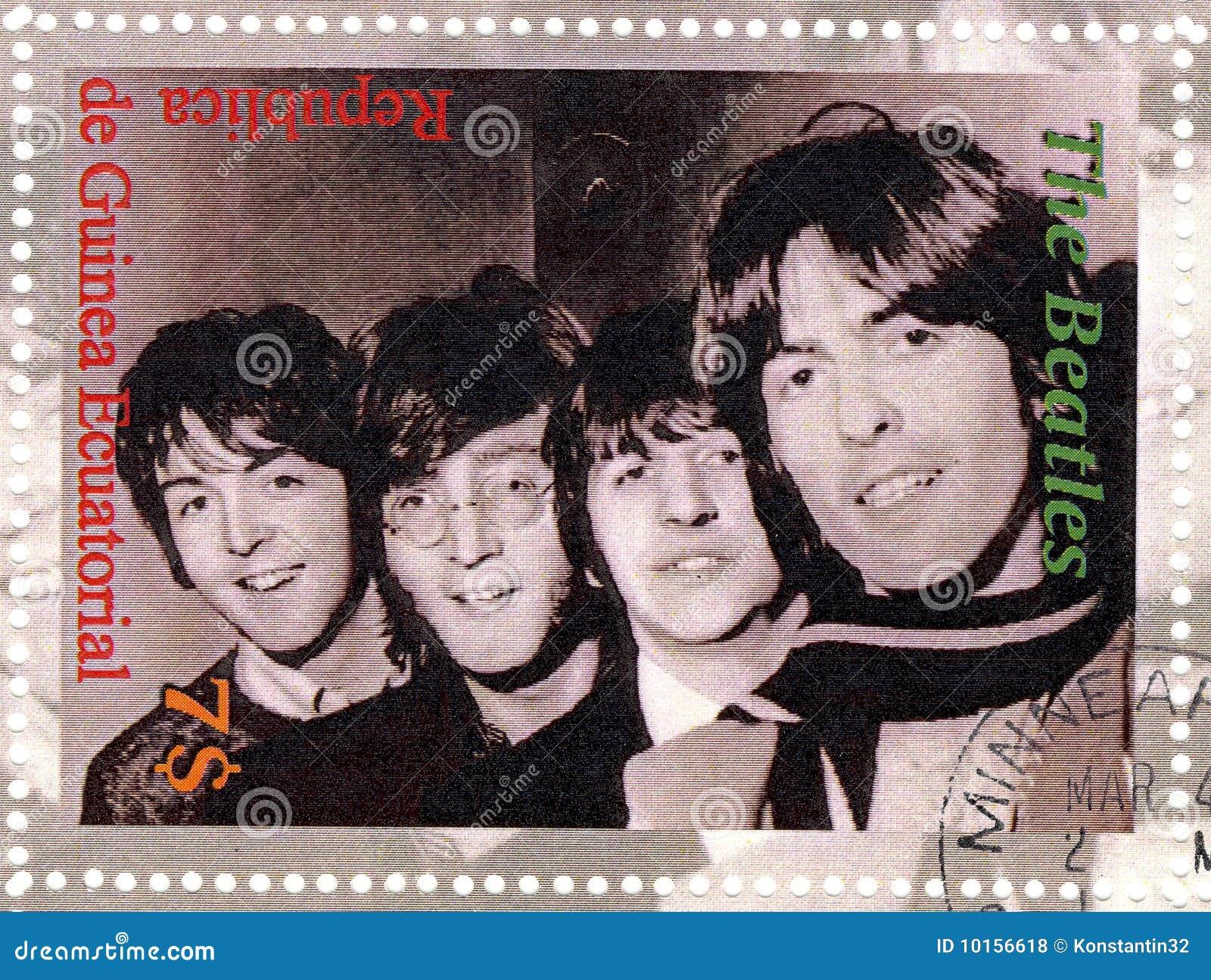 Sello con Beatles