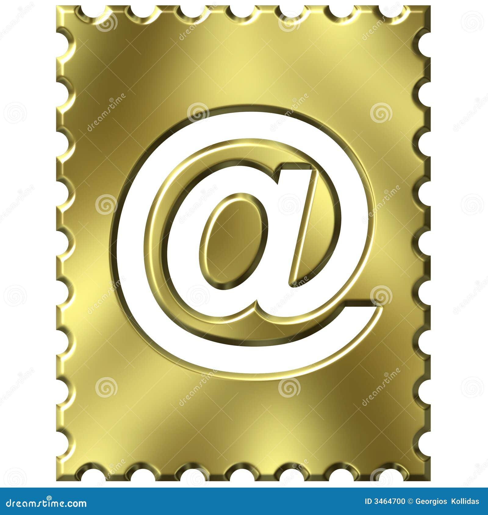 Sello con símbolo del email