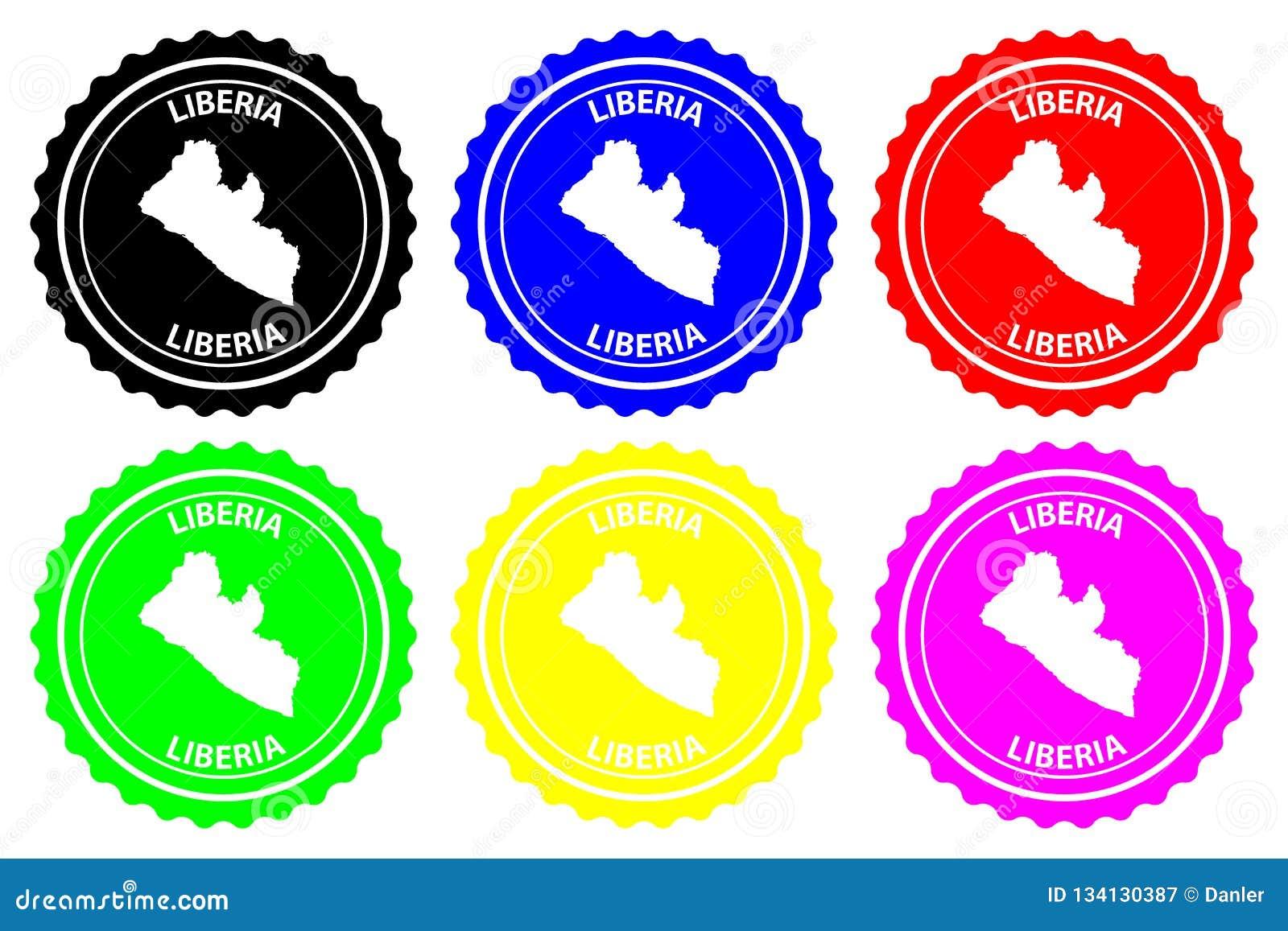Sello de goma de Liberia