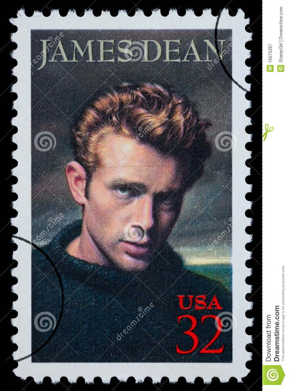 Sello de James Dean