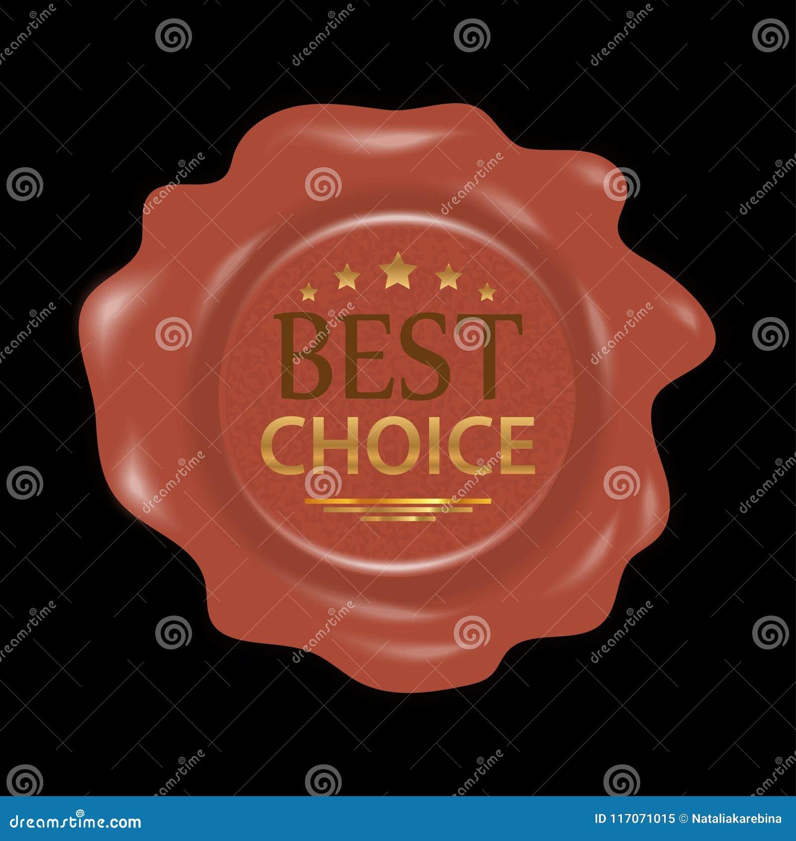 Sello de la cera Sello de goma del sello con la mejor opción de las insignias Vector