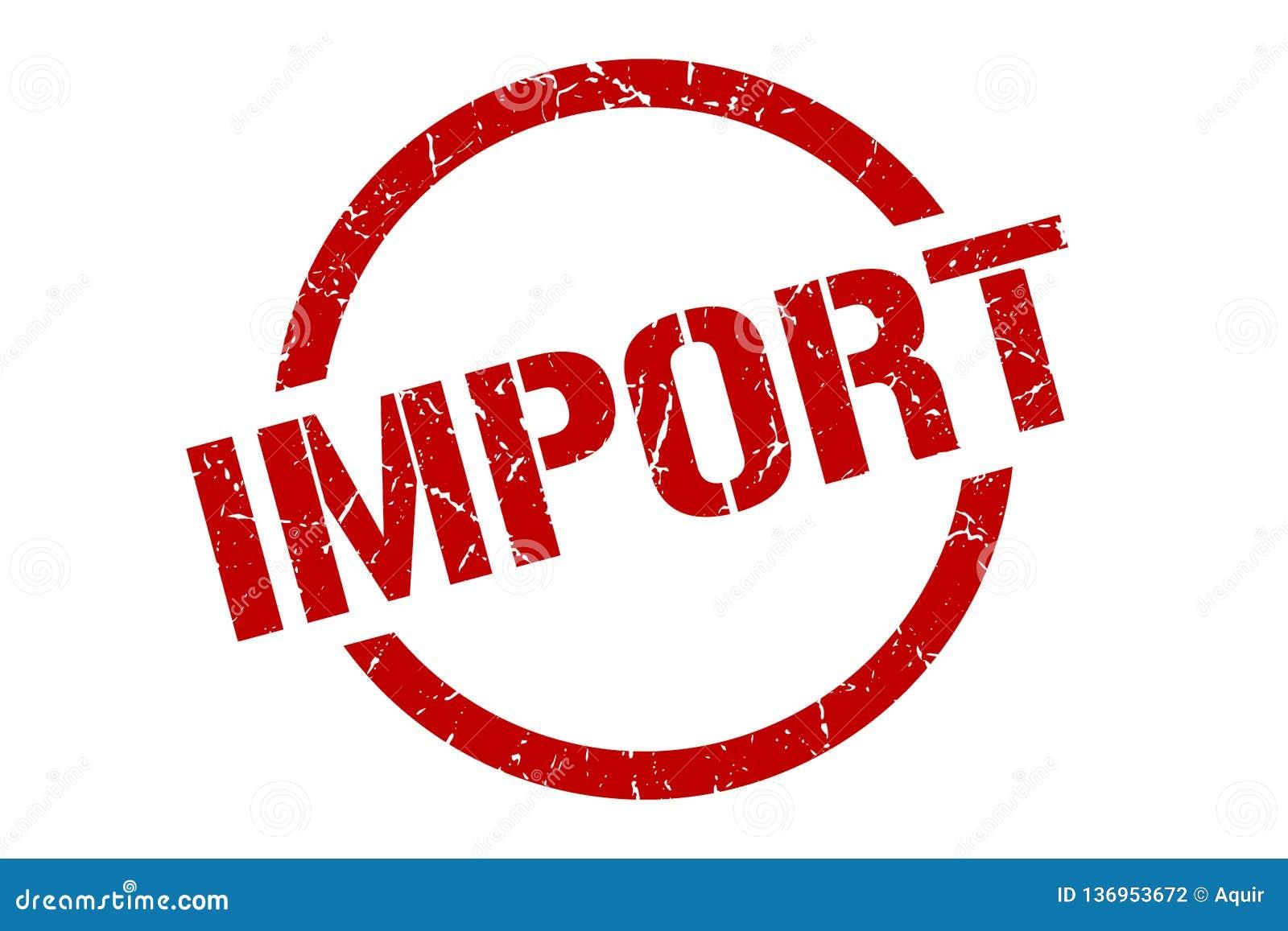 Sello de la importación