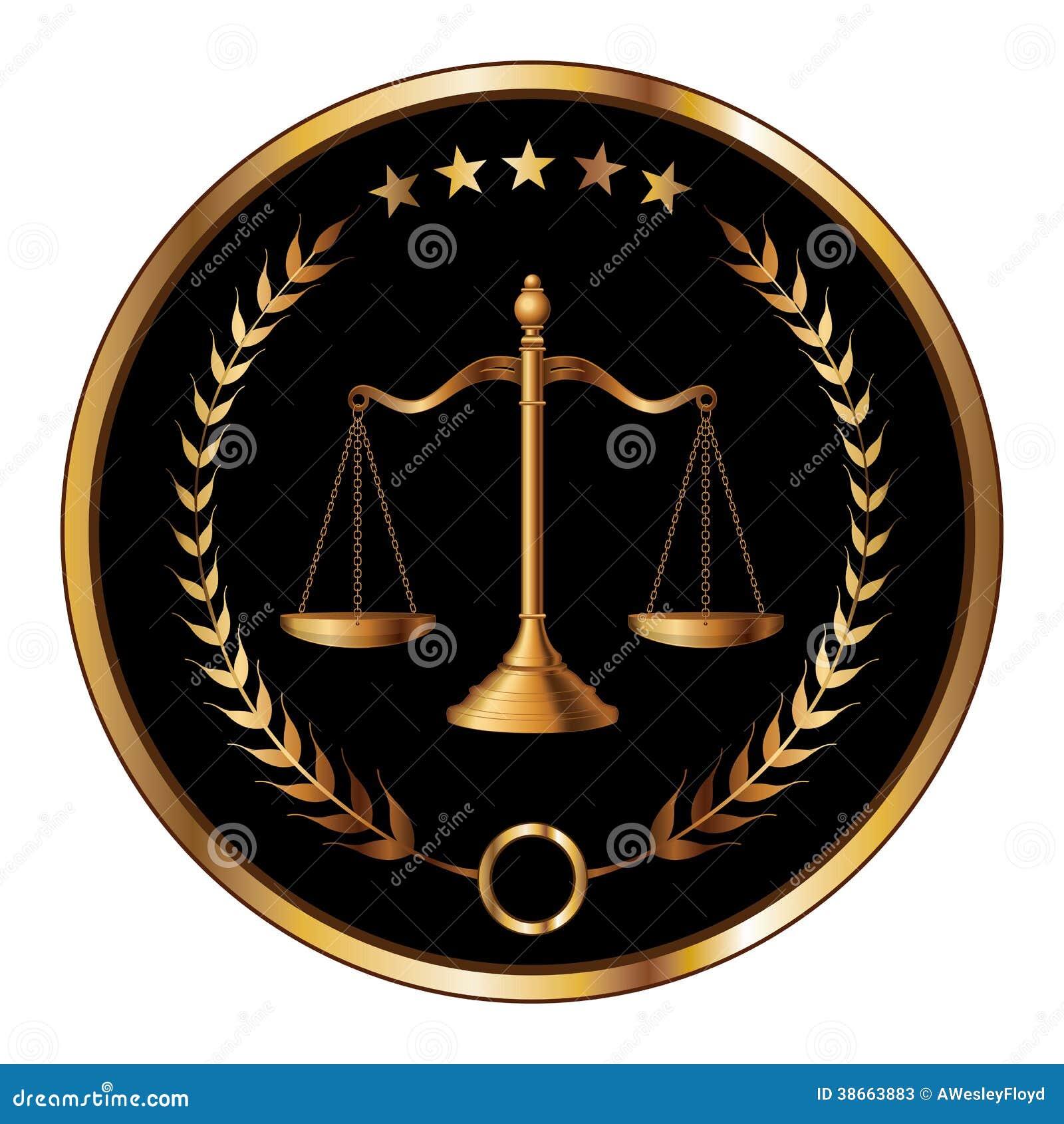 sello de la ley o de la capa ilustraci243n del vector