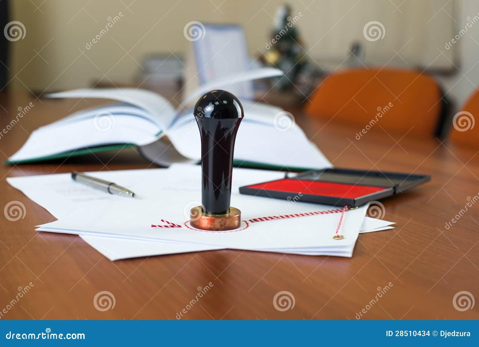 Sello de la tinta del notario público