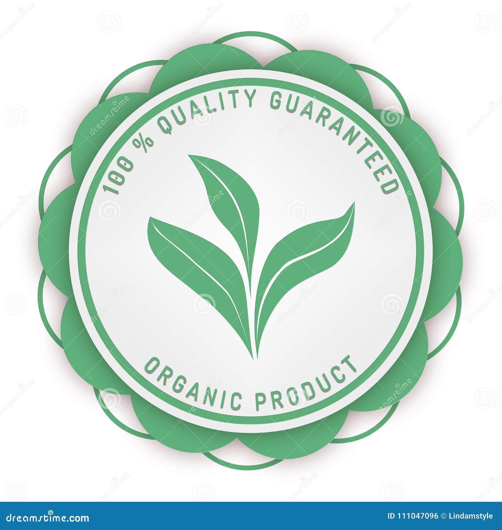 Sello 100  de los medios de la garantía de la garantía de calidad aislado en blanco
