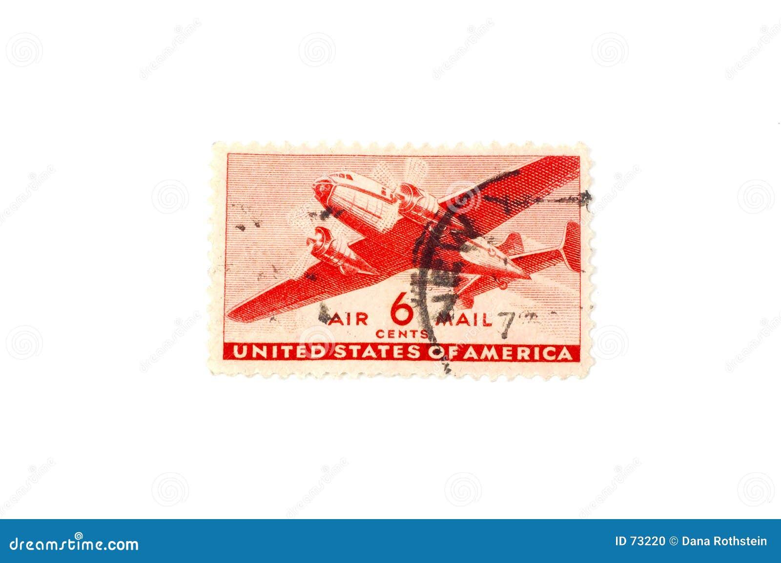 Sello del correo aéreo