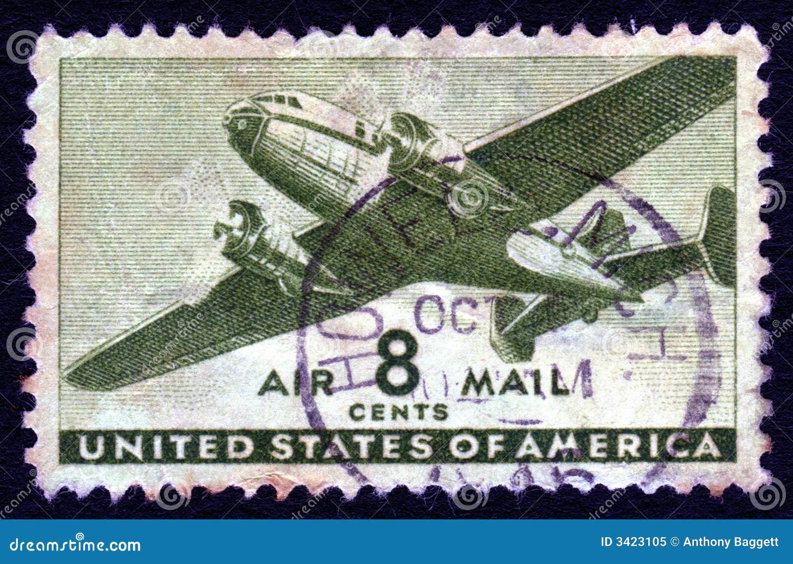 Sello del correo aéreo 8c de los E.E.U.U. de la vendimia