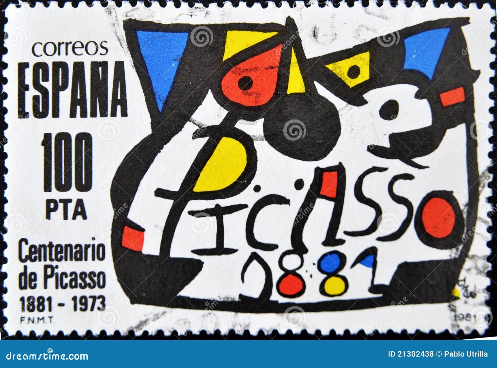 Sello del pintor Pablo Picasso