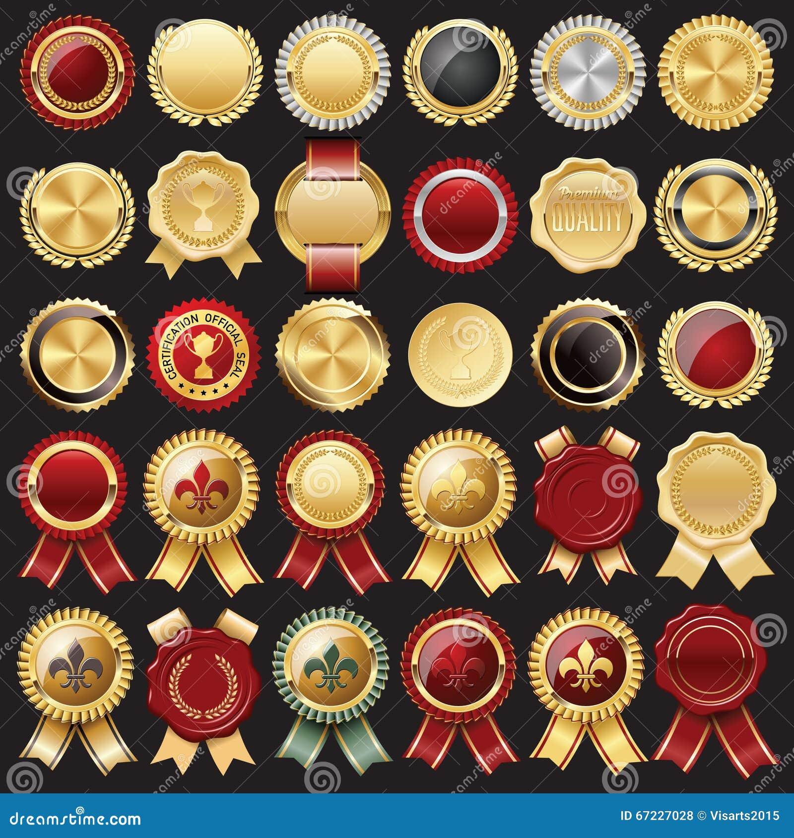 Sello e insignias de la cera del certificado