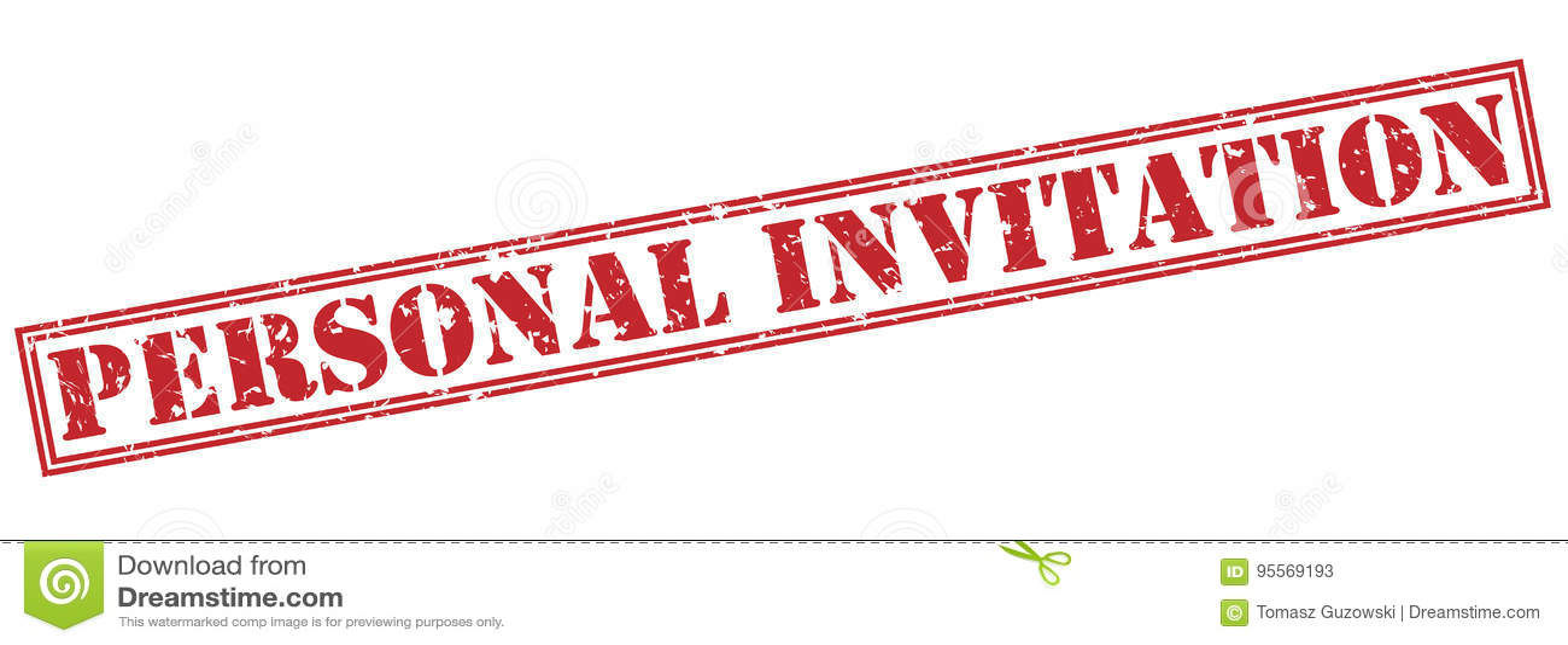 que es una invitacion personal