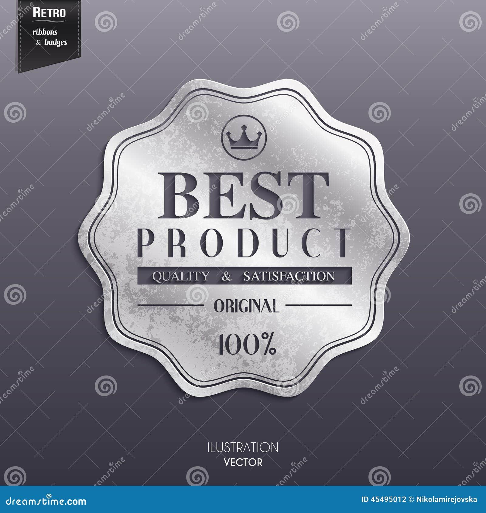 Sello retro de plata, etiqueta engomada, etiqueta, etiqueta, insignia encendido