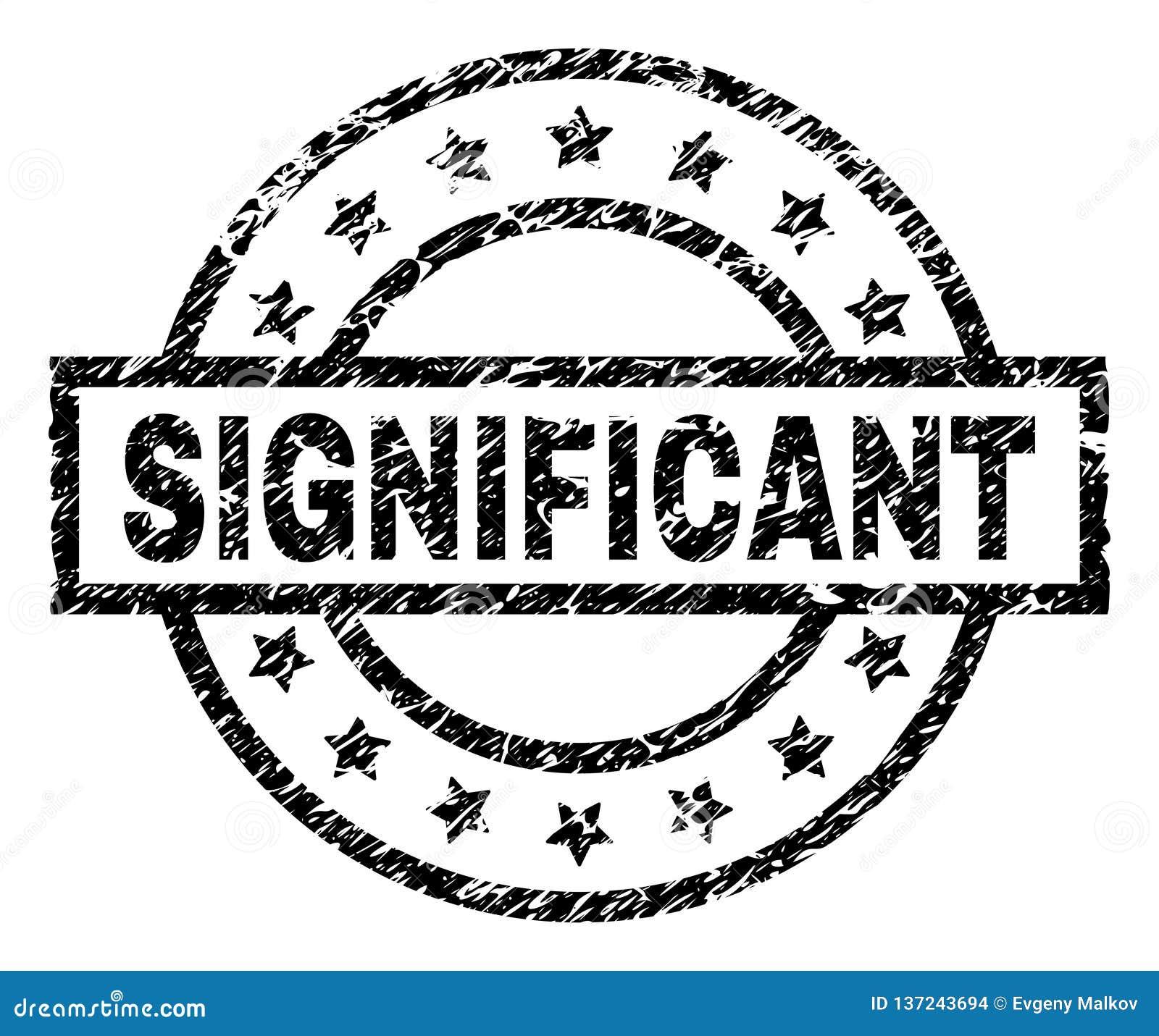Sello SIGNIFICATIVO texturizado Grunge del sello