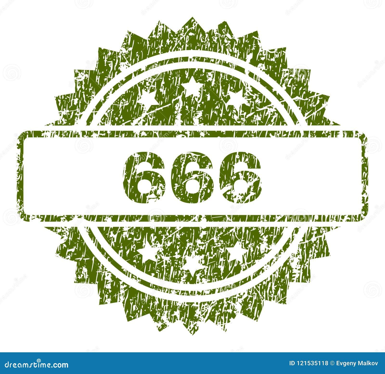 Sello texturizado rasguñado de 666 sellos