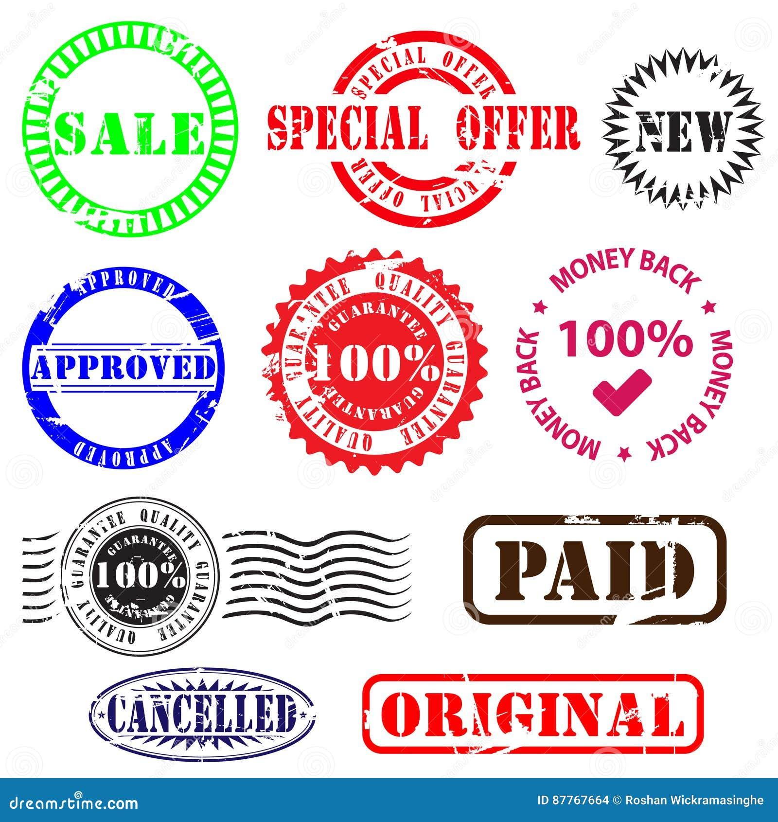 Sellos e insignias del negocio