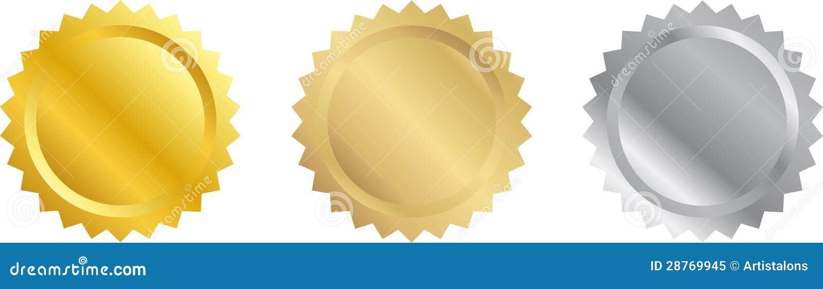 Sellos en blanco del certificado