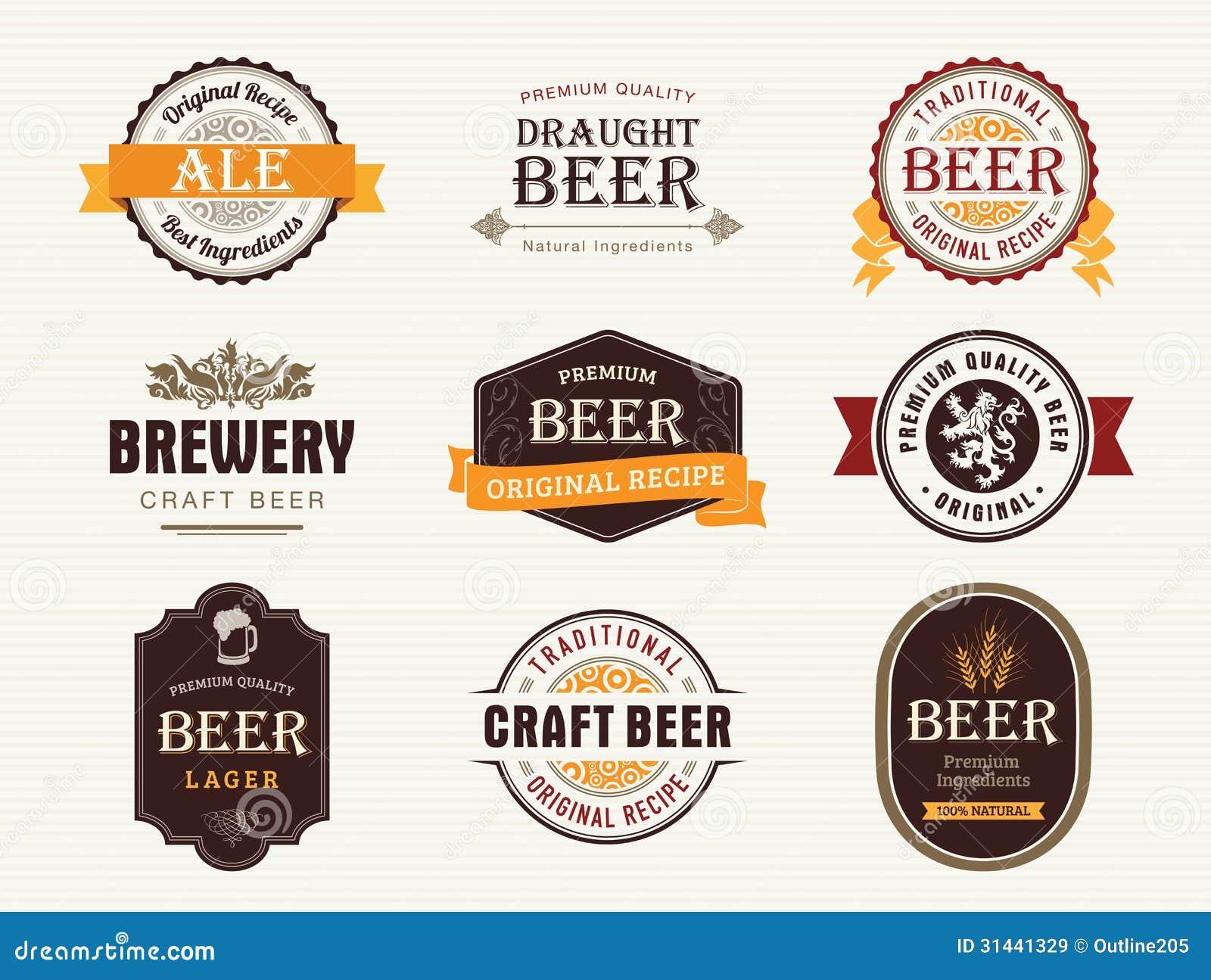 Sellos y sellos de la cerveza