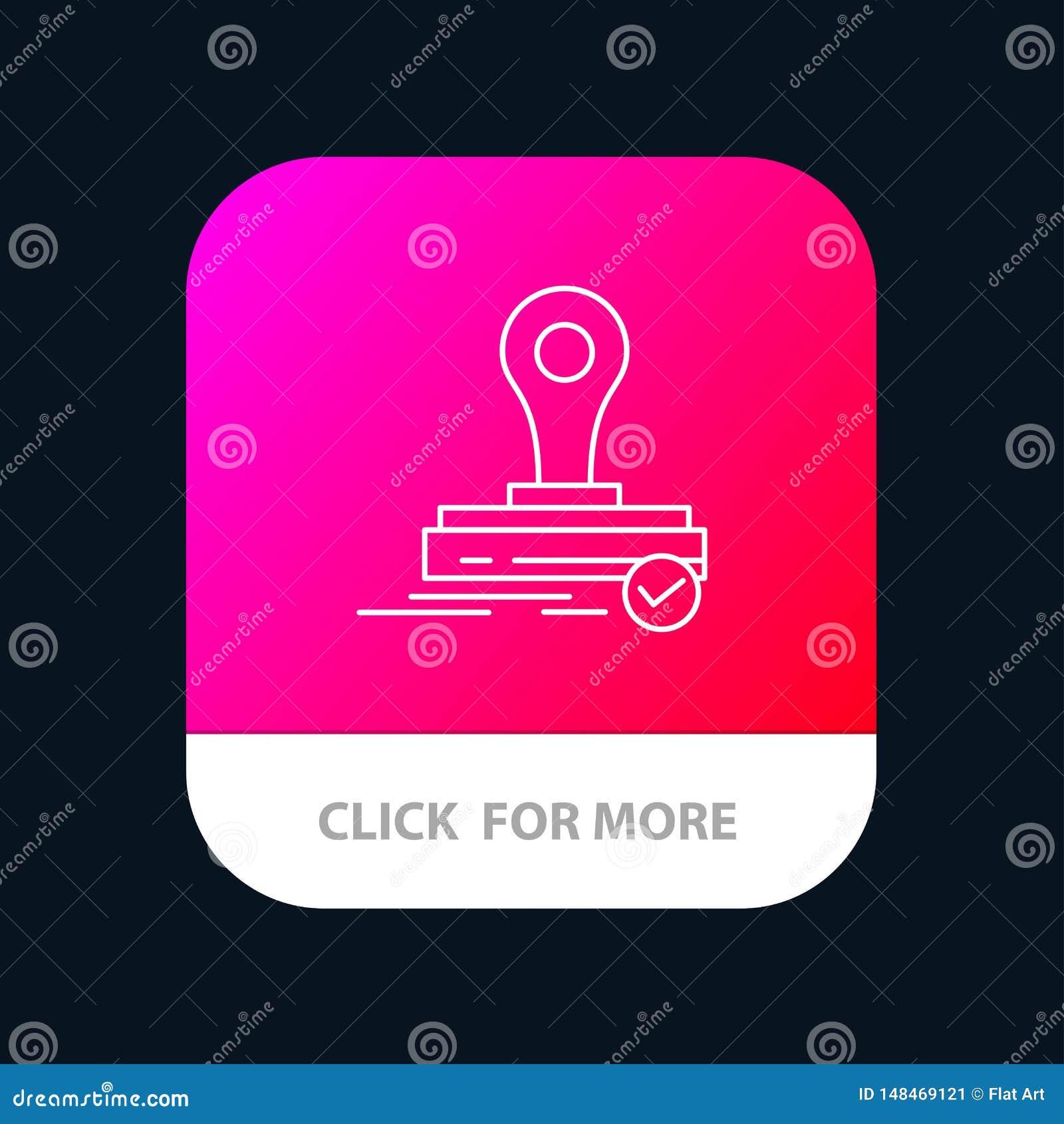 Selo, clone, imprensa, Logo Mobile App Button Android e linha versão do IOS
