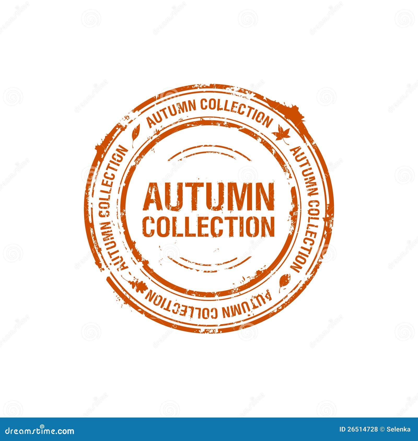 Selo da coleção do outono