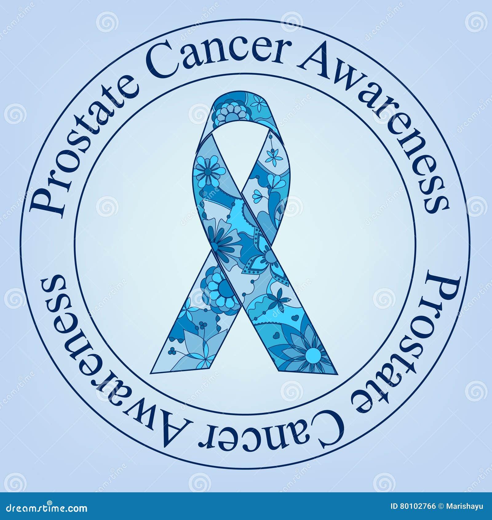 Selo da conscientização do câncer da próstata