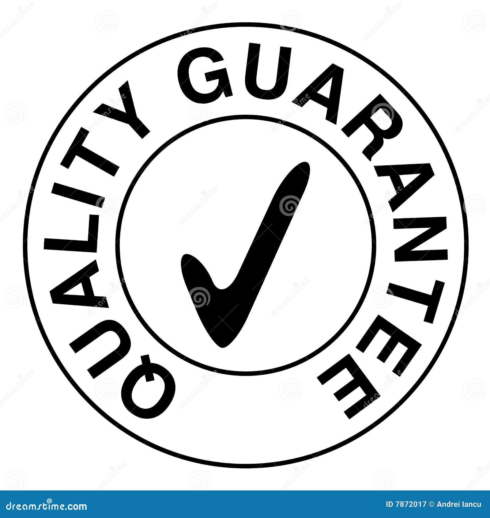 Selo da garantia de qualidade