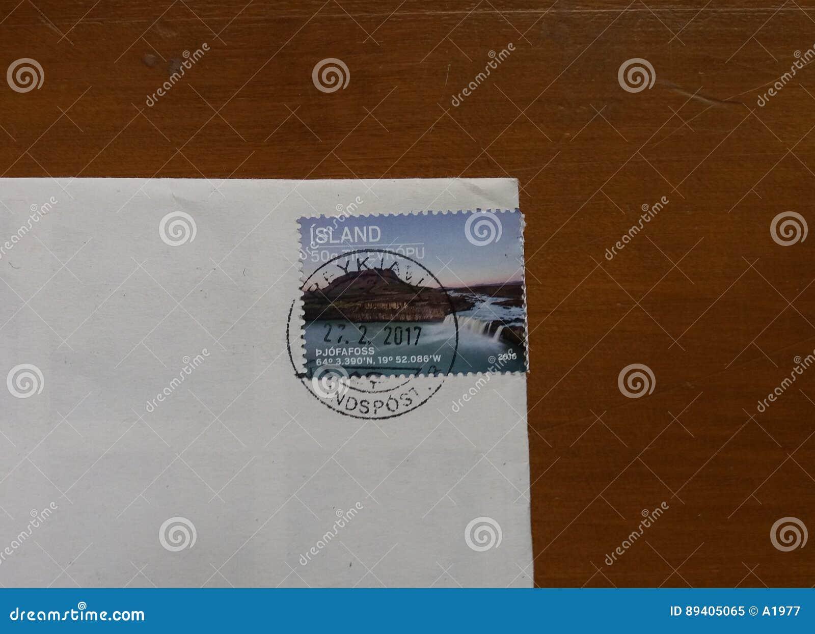Selo de correio da ilha