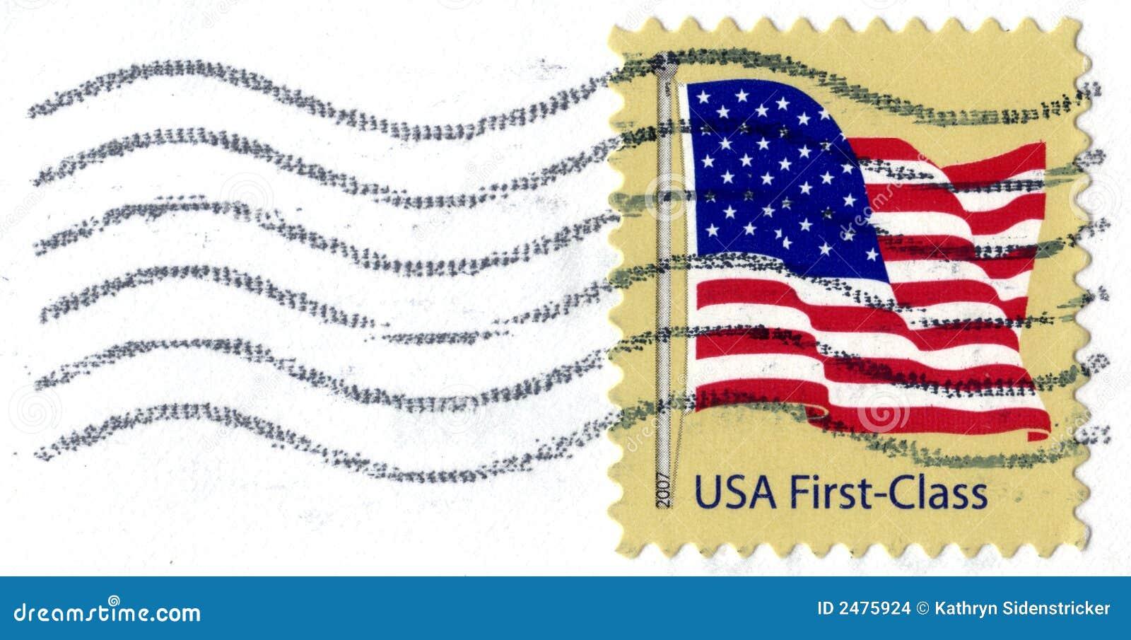 Selo de porte postal da classe dos EUA primeiros