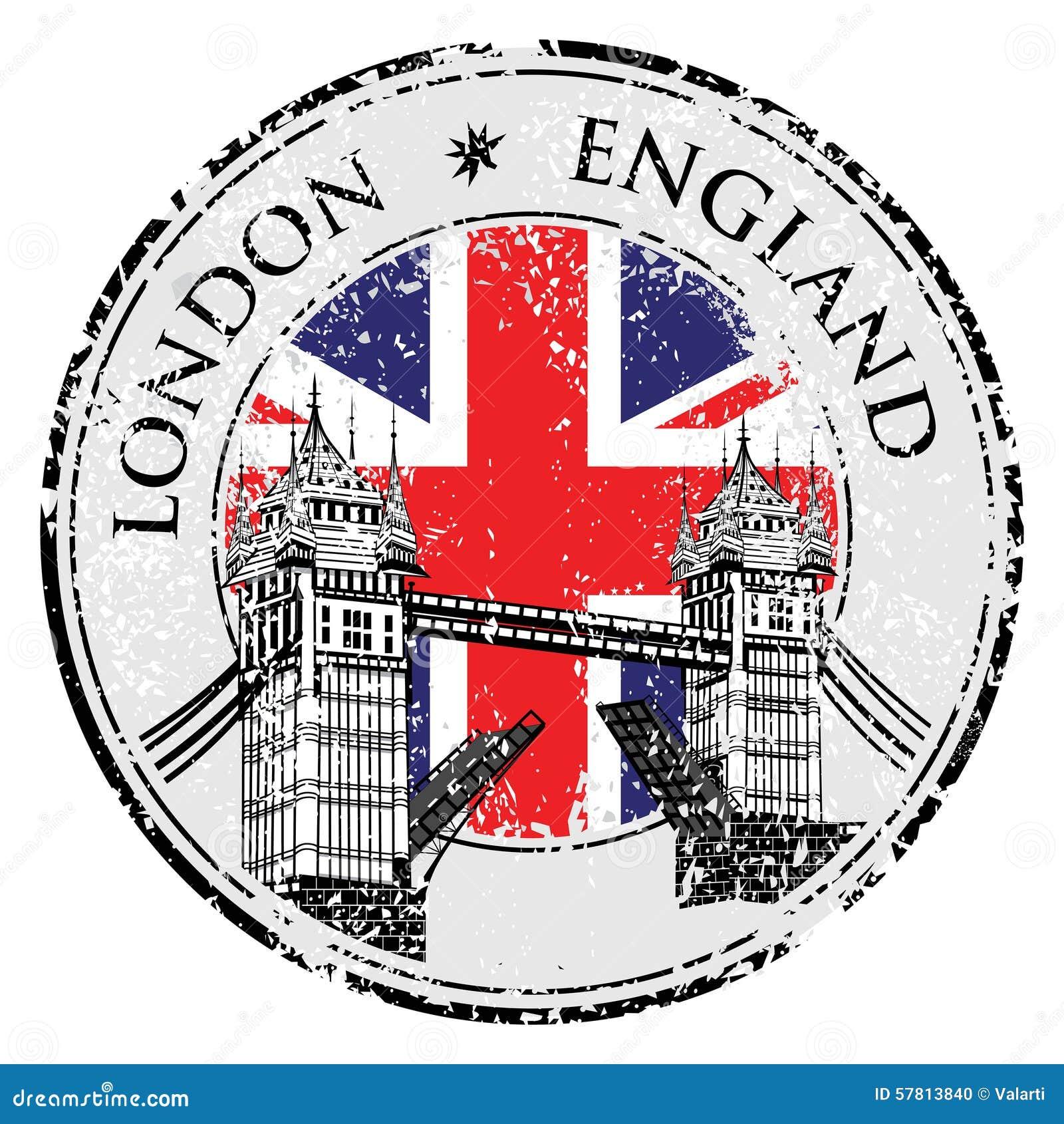 selo do grunge da ponte da torre com bandeira  ilustra u00e7 u00e3o british flag vector ai british flag vector art free