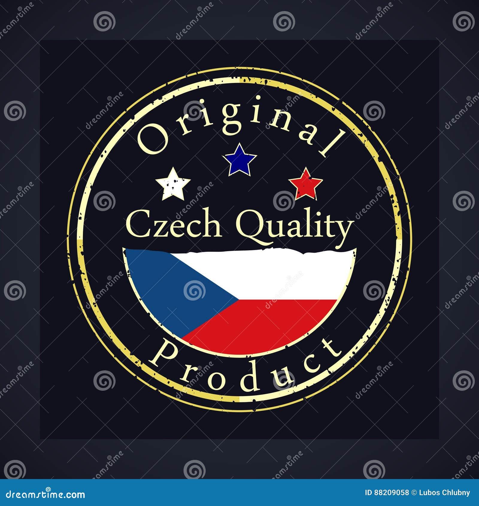 Selo do grunge do ouro com a qualidade checa do texto e o produto original