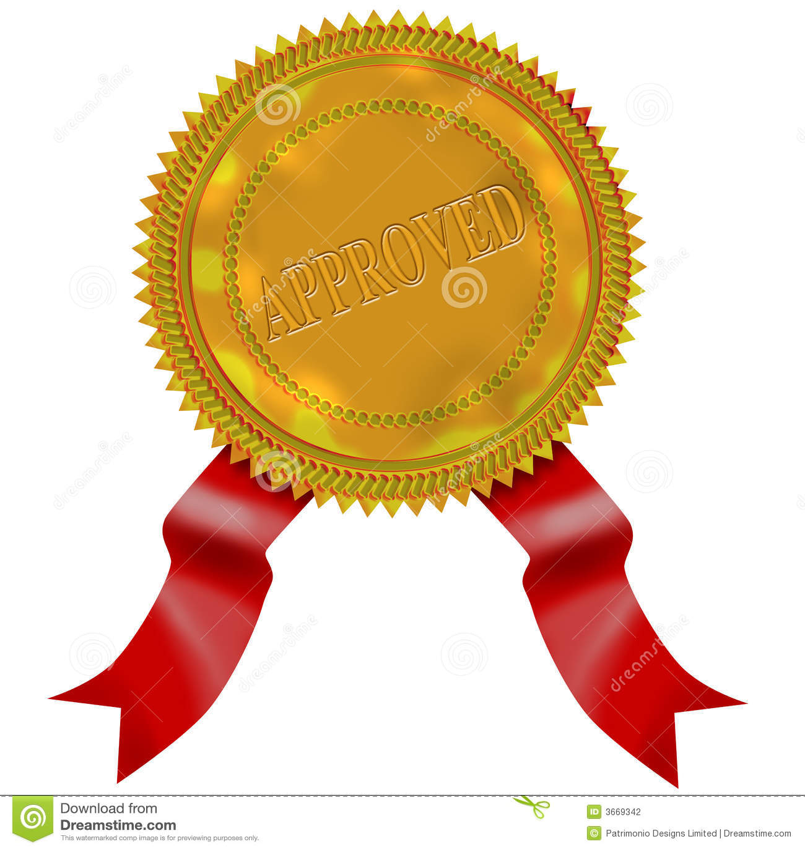Selo do ouro com fita vermelha