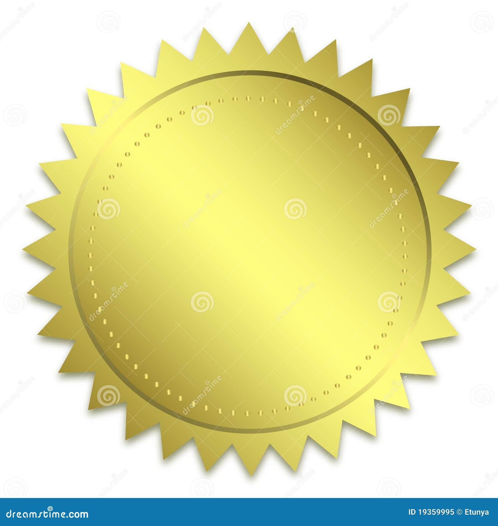Selo dourado da garantia