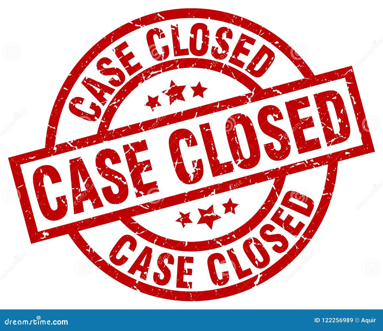 Selo fechado do caso