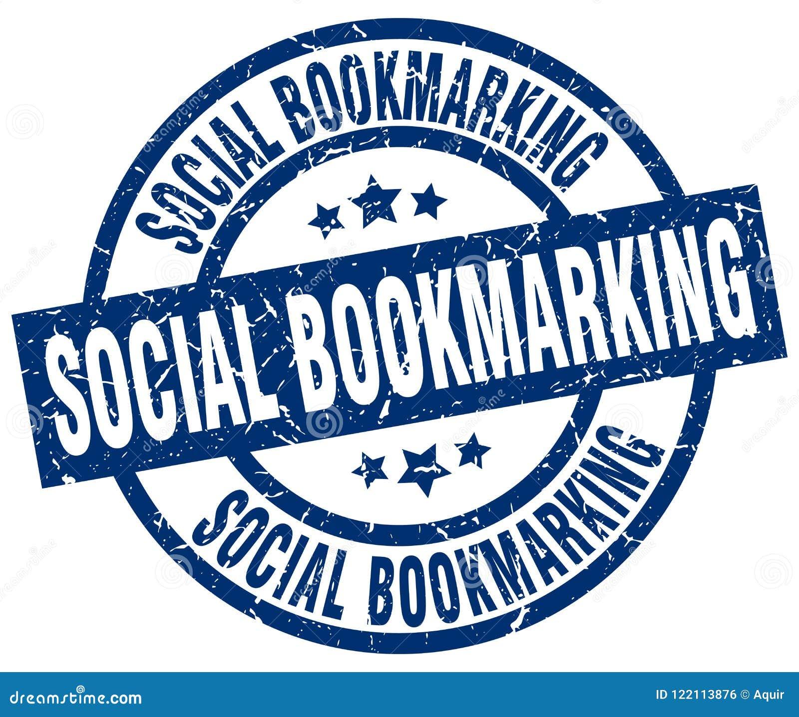 Selo marcando um endereço da Internet social