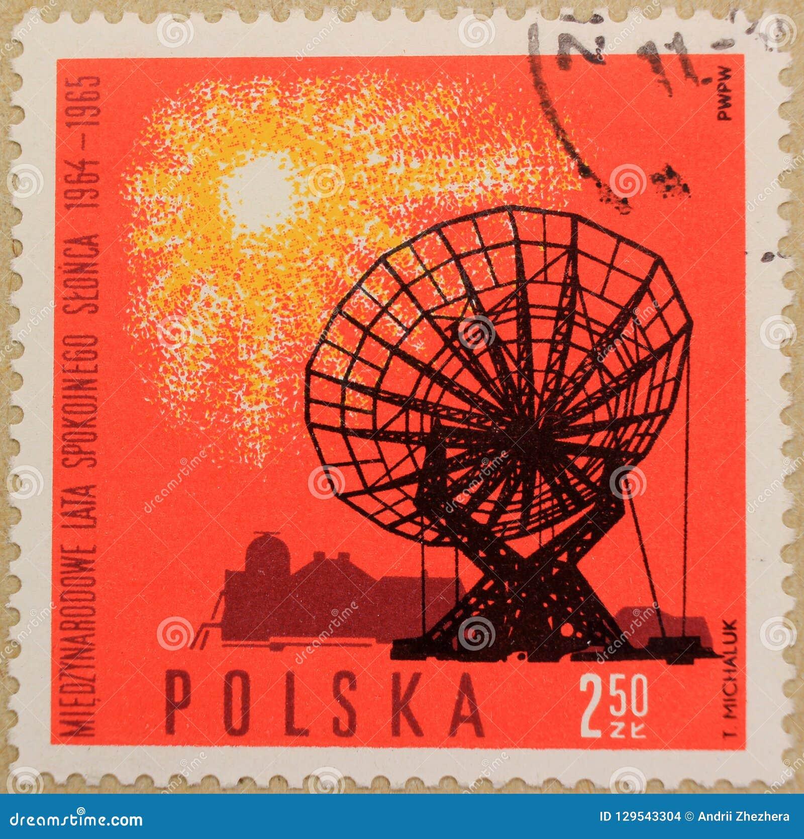Selo postal do Polônia, dedicado ao ano do Sun quieto