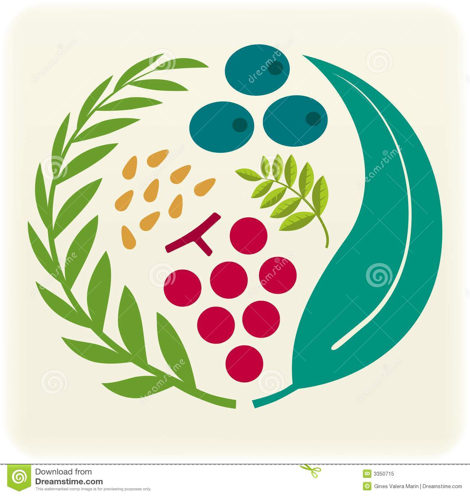 Selo vegetal (vetor)