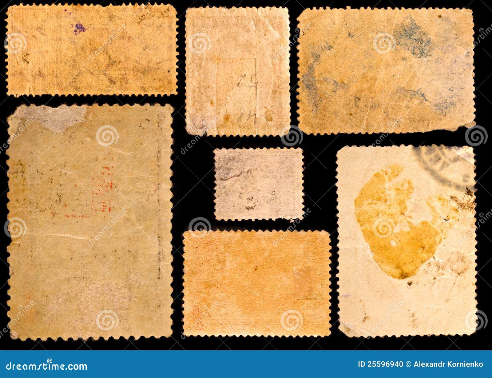 Selos de porte postal velhos