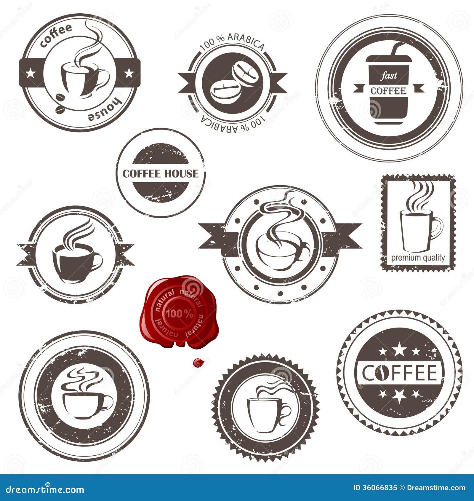 Selos do café