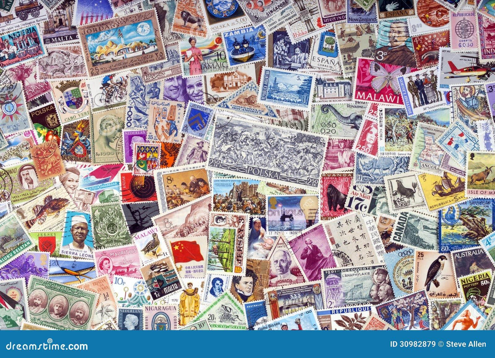 Selos postais do mundo - filatelia