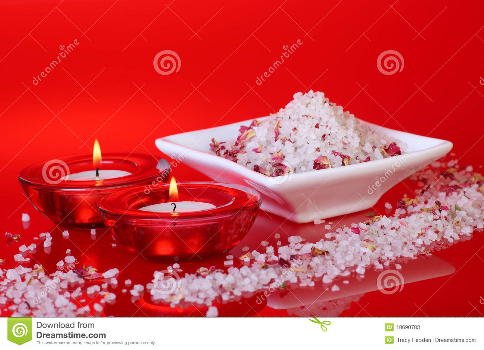 Sels et bougies de bain parfumés