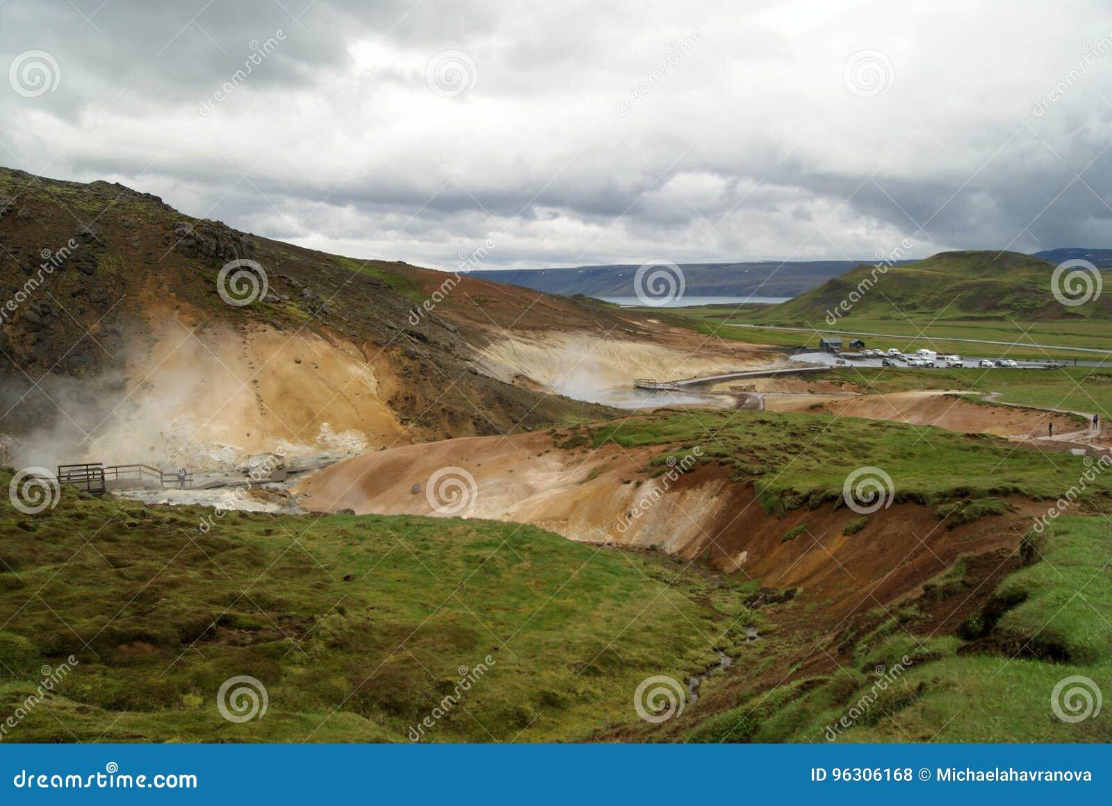 Seltún geotermiczny teren w Reykjanes, Iceland
